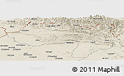 Shaded Relief Panoramic Map of Dihok