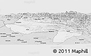Silver Style Panoramic Map of Dihok