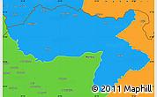 Political Simple Map of Dihok
