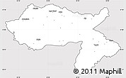 Silver Style Simple Map of Dihok, cropped outside