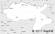 Silver Style Simple Map of Dihok