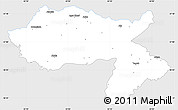 Silver Style Simple Map of Dihok, single color outside