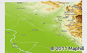 Physical Panoramic Map of Diyala