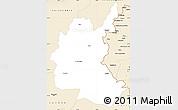 Classic Style Simple Map of Diyala