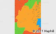 Political Simple Map of Diyala