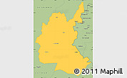 Savanna Style Simple Map of Diyala