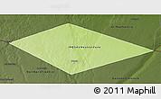 Physical 3D Map of IRQ/SAU Neutral Zone, darken