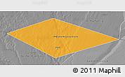 Political 3D Map of IRQ/SAU Neutral Zone, desaturated
