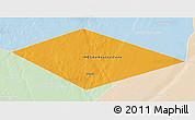 Political 3D Map of IRQ/SAU Neutral Zone, lighten