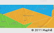 Political 3D Map of IRQ/SAU Neutral Zone