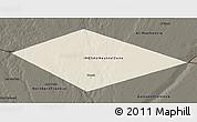 Shaded Relief 3D Map of IRQ/SAU Neutral Zone, darken