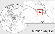 Blank Location Map of IRQ/SAU Neutral Zone