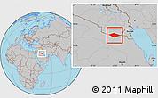 Gray Location Map of IRQ/SAU Neutral Zone