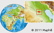 Physical Location Map of IRQ/SAU Neutral Zone