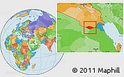 Political Location Map of IRQ/SAU Neutral Zone