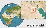 Satellite Location Map of IRQ/SAU Neutral Zone