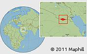 Savanna Style Location Map of IRQ/SAU Neutral Zone