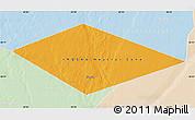 Political Map of IRQ/SAU Neutral Zone, lighten