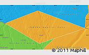 Political Map of IRQ/SAU Neutral Zone