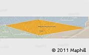 Political Panoramic Map of IRQ/SAU Neutral Zone, lighten, semi-desaturated