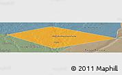 Political Panoramic Map of IRQ/SAU Neutral Zone, semi-desaturated