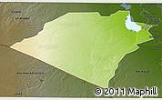 Physical 3D Map of Karbala, darken