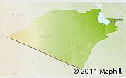 Physical 3D Map of Karbala, lighten