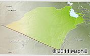 Physical 3D Map of Karbala, semi-desaturated