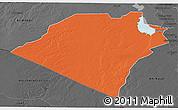 Political 3D Map of Karbala, darken, desaturated