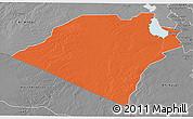 Political 3D Map of Karbala, desaturated