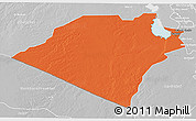 Political 3D Map of Karbala, lighten, desaturated
