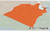 Political 3D Map of Karbala, lighten, semi-desaturated