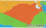 Political 3D Map of Karbala