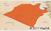 Political 3D Map of Karbala, satellite outside