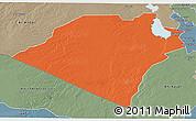 Political 3D Map of Karbala, semi-desaturated