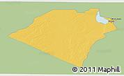 Savanna Style 3D Map of Karbala, single color outside