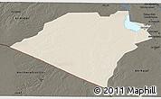 Shaded Relief 3D Map of Karbala, darken