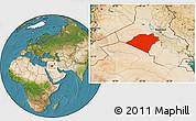Satellite Location Map of Karbala