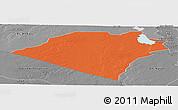 Political Panoramic Map of Karbala, desaturated