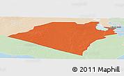 Political Panoramic Map of Karbala, lighten