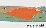 Political Panoramic Map of Karbala, semi-desaturated
