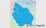 Political 3D Map of Misan, lighten