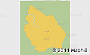 Savanna Style 3D Map of Misan, single color outside