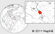 Blank Location Map of Misan