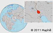 Gray Location Map of Misan