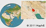 Satellite Location Map of Misan