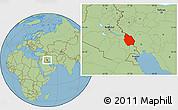 Savanna Style Location Map of Misan