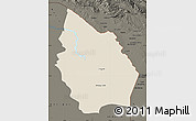 Shaded Relief Map of Misan, darken