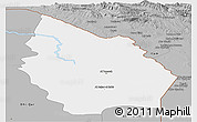 Gray Panoramic Map of Misan