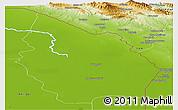 Physical Panoramic Map of Misan